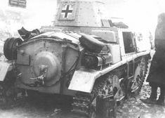 Tank M15 / 42 Italian production from the 22th Regiment Regiment tank destroyers SS SS Division 'Maria Theresa', the destroyed Yugoslav partisans in the streets of the town you Zdenska (Zdenska Vas, the territory of modern Slovenia).