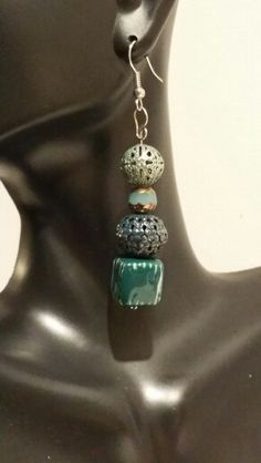 Beaded Stacked Earrings https://www.etsy.com/shop/NYCAccessoriesByTD
