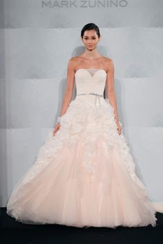 pink wedding gowns say yes dress Pink Wedding Gowns – 67% of brides choose a white, cream or ivory wedding dress.