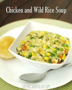 Chicken and Wild Rice Soup   cupcakediariesblog.com
