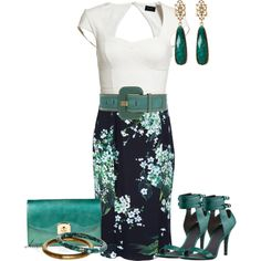 """D Floral Skirt"" by christa72 on Polyvore"