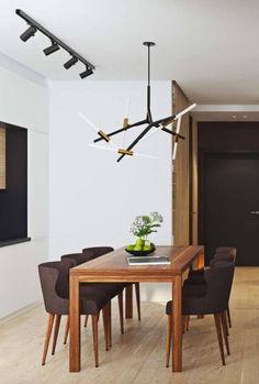Une salle à manger minimaliste. l aménagement pour salle à manger l décoration d'intérieure l inspirations et idées l Pour plus d'idées, cliquez ici : http://www.brabbu.com/all-products/