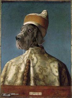 Animal Renaissance. Dog from Giovanni Bellini