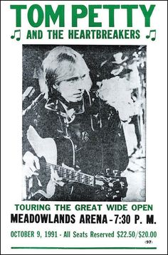 "Tom Petty and The Heartbreakers 14"" X 22"" Vintage Style Concert Poster: Prints: Posters & Prints"
