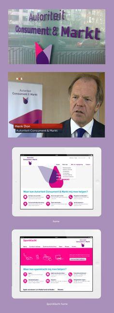 Autoriteit Consument & markt - Portfolio of Twan Minten #Branding #Webdesign