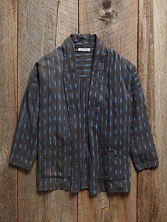 vintage ikat jacket