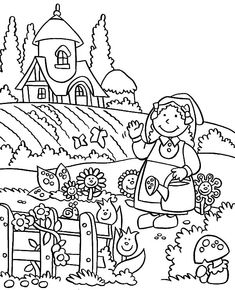 Garden Coloring Pictures See the category to find more printable coloring sheets. Also, you could use the search box to find what you want. Garden Coloring Pages, Angel Coloring Pages, Spring Coloring Pages, Horse Coloring Pages, Flower Coloring Pages, Coloring Books, Coloring Sheets, Poppy Coloring Page, Fish Coloring Page