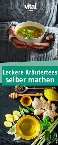 Bei leichten Erkältungen und Unwohlsein sind Kräutertees eine echte Wohltat! Natürliche Zutaten wie Ingwer, Holunderblüten oder Salbei sind wahre Wundermittel und schmecken in unseren leckeren Kräutertee-Rezepten besonders gut und wohltuend. Probiert's aus!