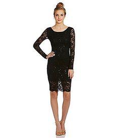 B darlin long sleeve lace sheath dress