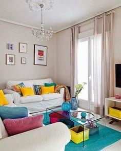 ACHADOS DE DECORAÇÃO - blog de decoração: APARTAMENTO DECORADO: aceita um pouco de cor aí?: