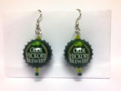 Earrings made from Olde Hickory bottle caps! Available at the Olde Hickory Tap Room - only a few pairs left! Sorry for the blurry picture.
