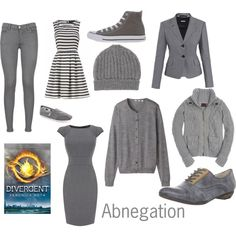 """Abnegation Faction from Divergent by Veronica Roth"" by sash-and-em on Polyvore"