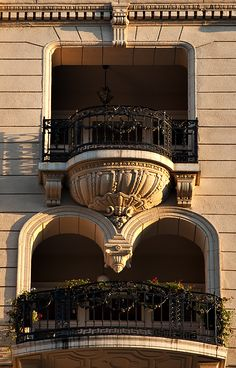Fanciful balconies -- Budapest, Hungary