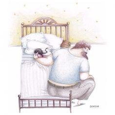 Questi 14 disegni spiegano il rapporto padre-figlia. Il numero 8 vi farà piangere!