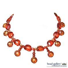 Sunburst necklace designed by Denise Yezbak Moore for Halcraft, USA.  Free DIY instructions on www.halcraft.com - inspiration blog