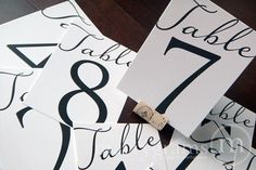 Reserved Sign Table Card Wedding Reception Seating by marrygrams