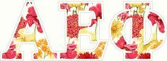 "Alpha Epsilon Phi Floral Greek Letter Sticker - 2.5"" Tall from GreekGear.com"