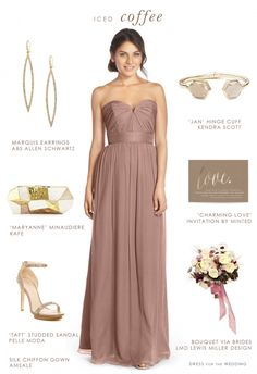 Latte and Gold Bridesmaid Look from @dressforwedding on @aislesociety