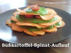 Süßkartoffel-Spinat-Auflauf - happy-healthy-raws Webseite!