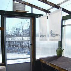 Don't let winter prevent you from having sun-fresh laundry. Hang a clothesline in your greenhouse or sunroom. From MOTHER EARTH NEWS magazine.
