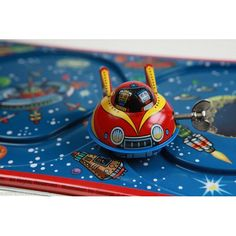 Tin Toys - TIN TOY SPACE ROCKET EXPRESS ORIGINAL WITH TRACK JAPANESE VERSION