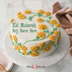 Write name on Eid ul Adha Cake Pic with Name And Wishes Images and create free Online And Wishes Images with name online. - Happy Eid Mubarak Wishes  IMAGES, GIF, ANIMATED GIF, WALLPAPER, STICKER FOR WHATSAPP & FACEBOOK