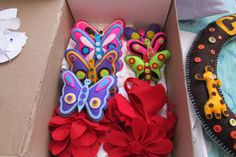 #felt decorations# butterflies and flowers