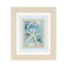 Seaglass White Starfish Framed Art Print | Kirklands