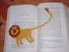Marque page Lion au crochet