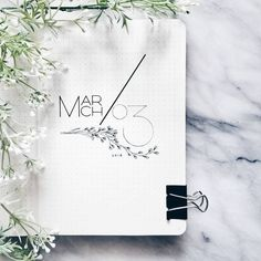 bujo Bullet Journal monthly cover page, March cover page, plant drawing. March Bullet Journal, Self Care Bullet Journal, Bullet Journal Monthly Spread, Bullet Journal Cover Page, Bullet Journal Inspo, Bullet Journal Layout, Journal Covers, Bullet Journals, Art Journals