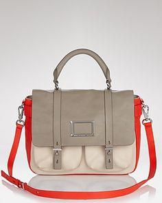 MARC BY MARC JACOBS Messenger Bag - Werdie Colorblock Top Handle   Bloomingdale's