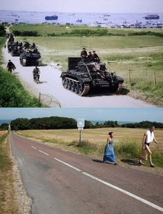 June marked a turning point in World War II as Allied troops stormed the beaches of Normandy, forcing the end of the German occupation of France. To mark this Friday's anniversary of D-Day, Reuters photographer Chris Helgren compiled a. Normandy Ww2, D Day Normandy, Normandy Beach, D Day Photos, Ww2 Photos, History Photos, Then And Now Pictures, Us Army Rangers, D Day Landings