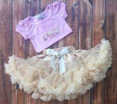 Ivory chiffon pettiskirt, kids, petti skirt, Birthday shirt two, 2 years old, outfit cream, baby, chiffon girls skirt, toddler, baby, fluffy