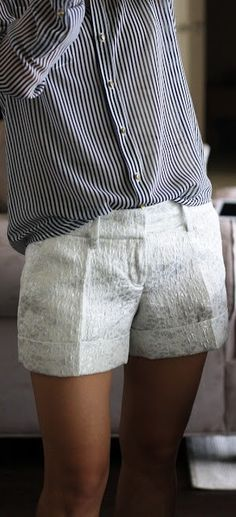 love the stripes with the jazzed up shorts