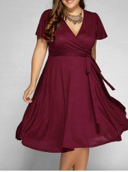 Front Tie Swing Surplice Plus Size DressFor Fashion Lovers only:80,000+ Items • New Arrivals Daily • Affordable Casual to Chic for Every Occasion Join Sammydress: Get YOUR $50 NOW!