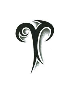 tribal aries tattoo design by jsharts designs interfaces tattoo design ...