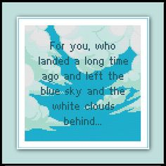Cloud Quote Cross Stitch Pattern Video Game That by SpriteStitches