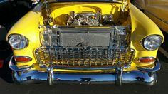 Yellow Chevy Front Cruizin on the River 2016 - Great Grills and Rear Ends