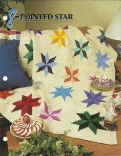 Star Afghan Crochet Pattern | eBay - Electronics, Cars