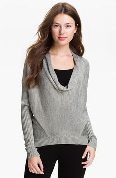 Vince Camuto Drape Neck Metallic Knit Sweater available at #Nordstrom