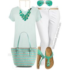 """#plus #size #Summer #outfit """"Plus Size - Tonal"""" by alexawebb on Polyvore"""