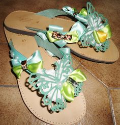 handmade fancy sandals with butterfly lace,bows and pearls only for pin up girls!!! #σανδαλια #χειροποιητα #summer #sandals #summersandals #butterfly #pinup #bows #handmade Palm Beach Sandals, Jack Rogers, Miller Sandal, Tory Burch, Pin Up, Bows, Pearls, Handmade, Rhinestones