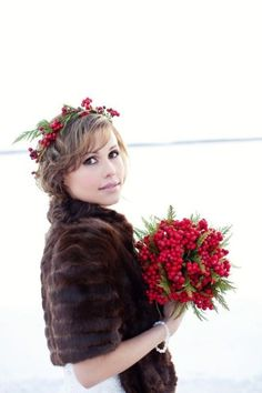 Идея для зимней свадьбы    #wedding #bride #flowers
