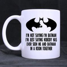 Top Funny Im not saying Im Batman. Im just saying nobody has ever seen me and Batman in a room toget @ niftywarehouse.com #NiftyWarehouse #Batman #DC #Comics #ComicBooks