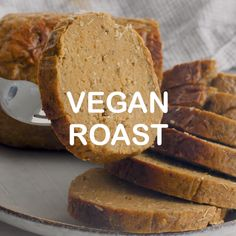 A simple, easy, rustic and hearty Vegan Roast that's sliceable, ultra tender and full of flavour. Just perfect for serving with copious amounts of gravy, roast potatoes and all the trimmings. Leftovers are great in sandwiches too! Vegan Dinner Recipes, Whole Food Recipes, Dessert Recipes, Vegetarian Roast Dinner, Vegan Christmas, Vegan Thanksgiving, Vegan Foods, Vegan Dishes, Tortillas Veganas