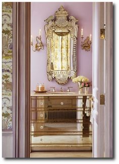 Decorating With Lilacs, Keywords:Brightly Painted Furniture, Floral Interiors, Decorating With Color, Pastel Interiors, Yellow Interiors, Pi...
