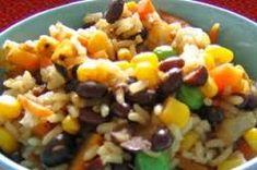 Recetas de comidas saludables con arroz. Fácil ensalada para preparar en Verano.