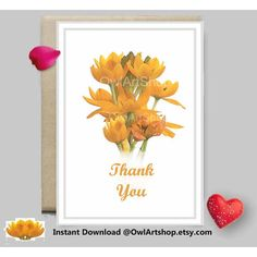 Thank you card, Water color flowers, art card, teacher gratitude,... (6.61 CAD) ❤ liked on Polyvore featuring home, home decor and stationery