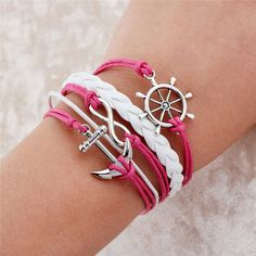 """Emark in the Service of God Anchor Bracelet New Beginnings 2015 gift ideas by thehazelboutique Great for New Beginnings 2015 YW Theme """"O ye that embark in the service of God"""""""