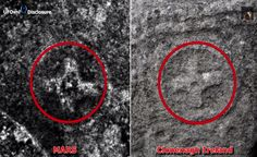 Cross carved into the rock of Mars captured by Mars Rover Opportunity (Old Irish slab)?